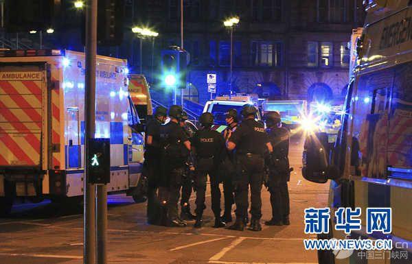 英国曼彻斯特体育馆发生爆炸已造成19人亡