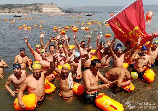 2017中国·三门峡横渡母亲河活动隆重举行