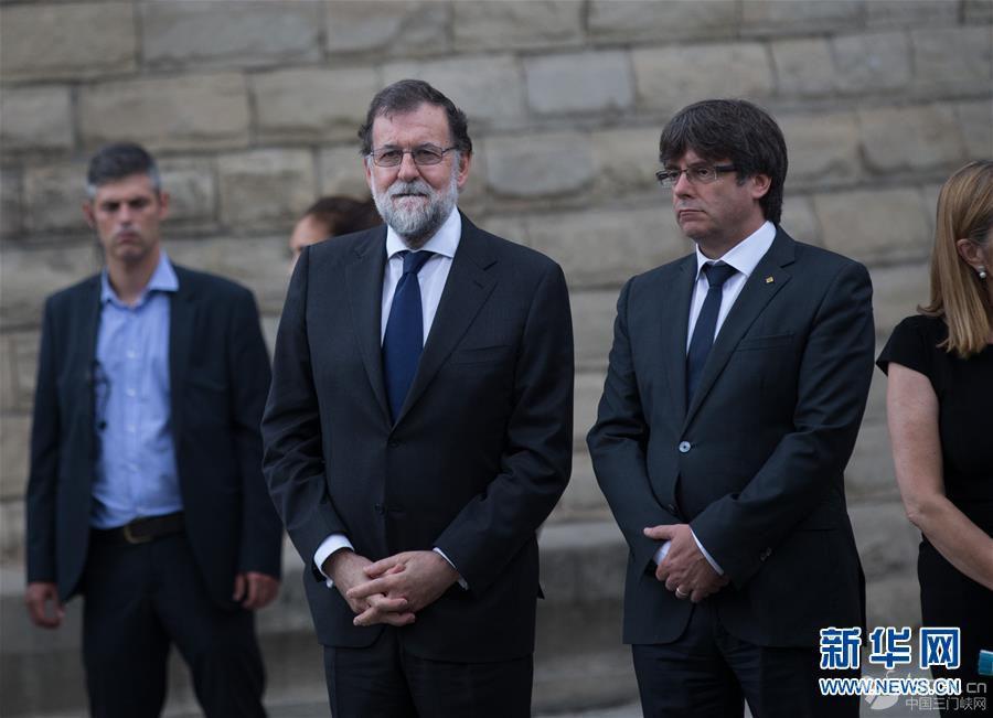 巴塞罗那为恐袭死难者举行追思活动