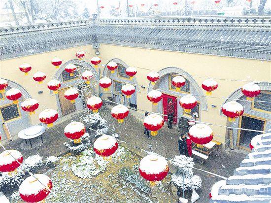 三门峡今冬第一场雪悄然而至