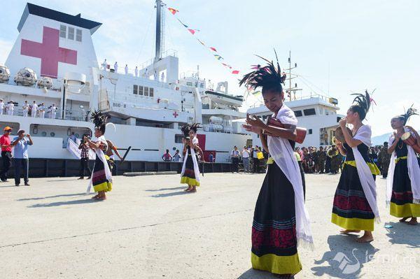 和平方舟医院船首访东帝汶