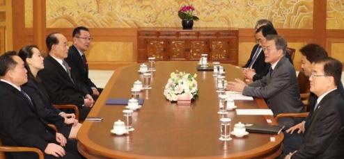 朝鲜高级别代表团结束访韩返回平壤