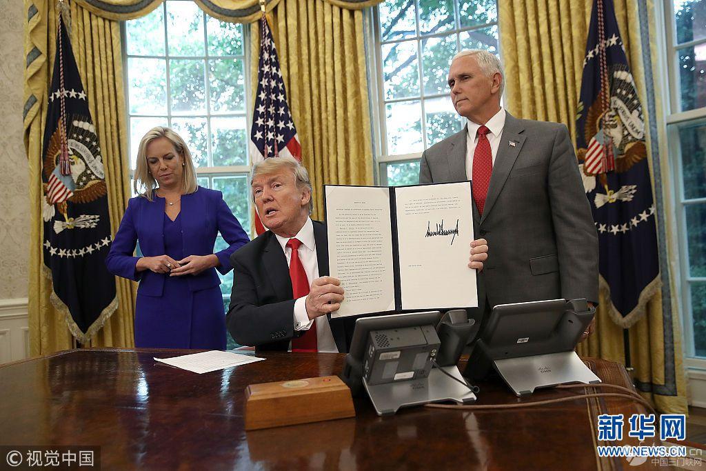 特朗普叫停拆散非法移民家庭