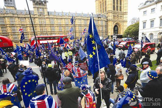 """英国议会下院否决""""脱欧""""协议"""