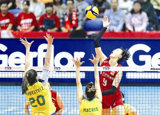 女排世界杯赛:中国队六连胜