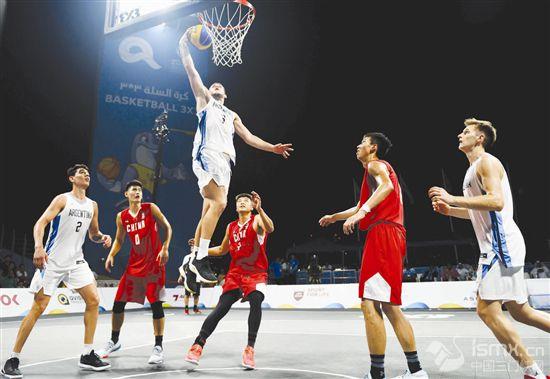 沙滩篮球――世界沙滩运动会:中国男队胜阿根廷男队