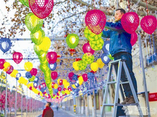 張燈結(jie)彩 喜迎春節