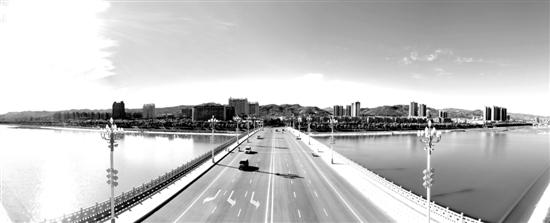 洛河沿岸风光旖旎