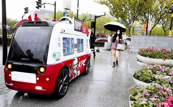 无人餐车服务市民