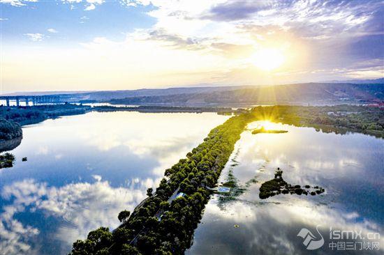 黄河湿地三门峡段美景如画