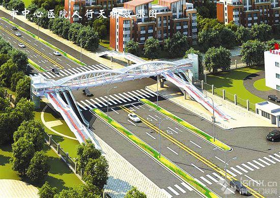 市区两座过街天桥开建